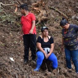 Derrumbes en el Cauca Colombia Foto: EFE