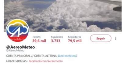 Cuenta de Twitter @AeroMeteo / Foto: Cortesía