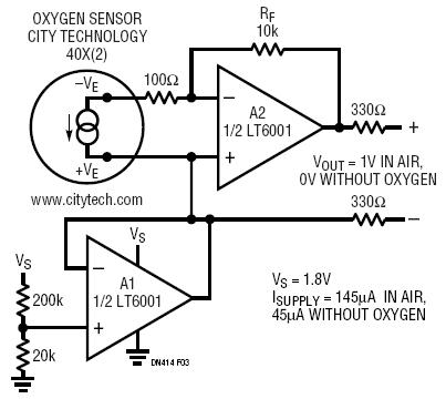 High Accuracy Oxygen Sensor Circuit Collection | Analog