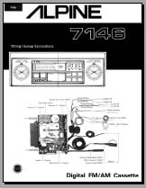 Alpine 7146 Wiring connection Diagram, Analog Alley Manuals