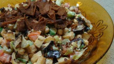 Photo of طريقة تحضير سلطة الباذنجان والبطاطا