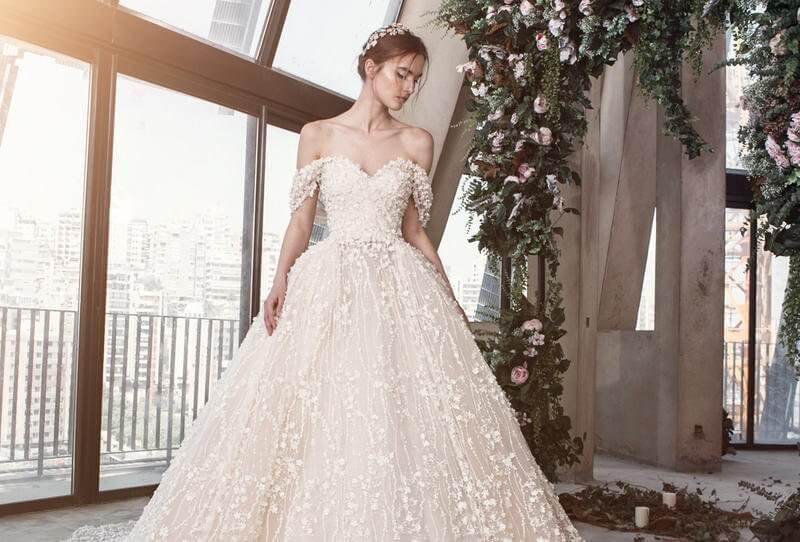 احدث  وأجمل فساتين زفاف 2019