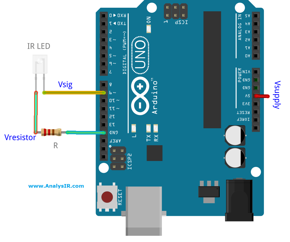 Driving An Infrared Led Directly From Arduino Pin Constant Current Driver Circuit Electronic Projects Avr Ir Voltage Using Uno