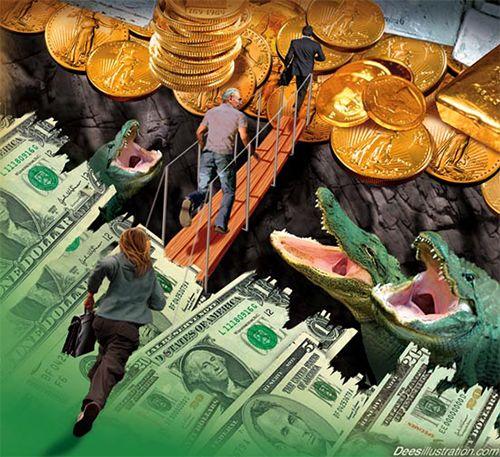 Η.Π.Α.: Χρηματιστήρια, δολάρια και χρυσός