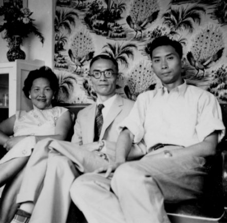 Grannnie, Grandpa, and Father when they were young