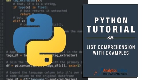 python tutorial on list comprehension with examples