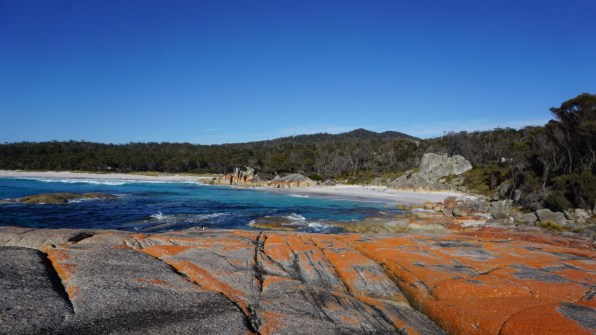 Amazing beaches, wherever you go around the island. This is Bay of Fires on the east coast