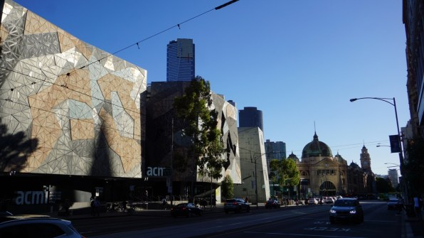 Melbourne - colonial architecture side by side with stunning modern buildings