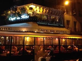 Café de Flore, na nossa primeira noite