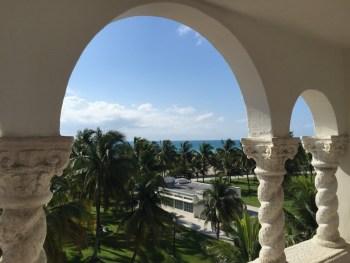 Vista da terraça de nosso hotel