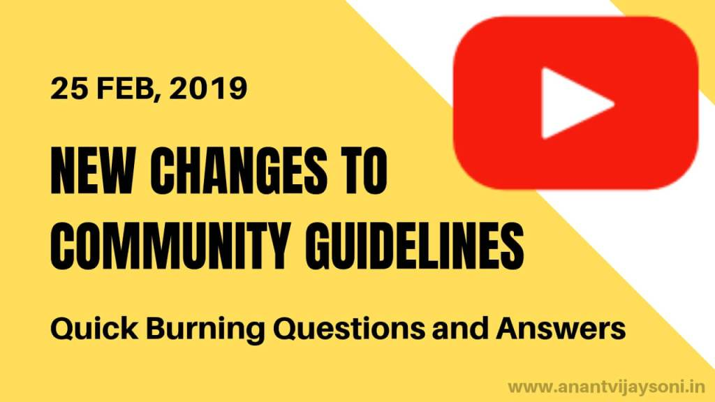New Changes to Youtube's Community Guidelines Strikes – 25 Feb 2019