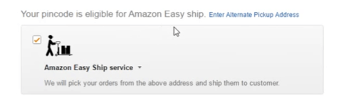 your pincode is eligible for amazon easy ship