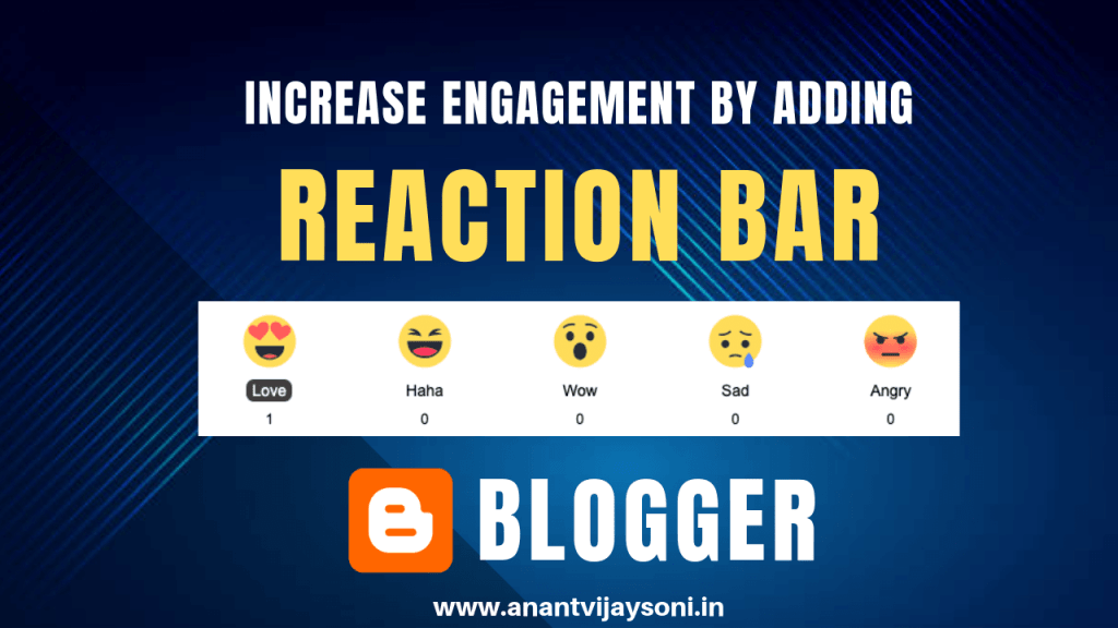 How to Add Reaction Bar Buttons/Counter in Blogger and WordPress