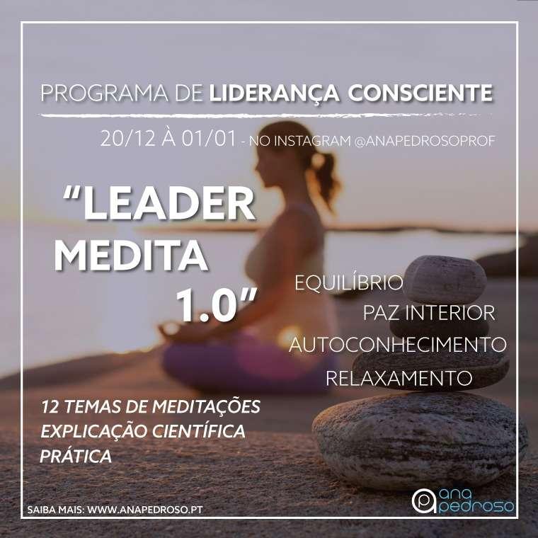 """""""LEADER MEDITA 1.0""""   Programa de 12 Dias   Curso Gratuíto"""