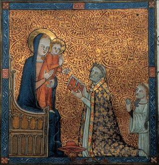 Miniature du terrier d'Anglic Grimoard, 1366 - AD84, 1G10