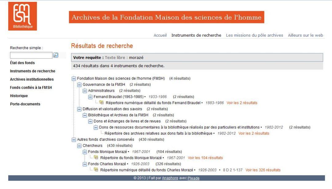 Résultats d'une recherche utilisant le terme Morazé (historien et figure importante de l'histoire de la Fondation)