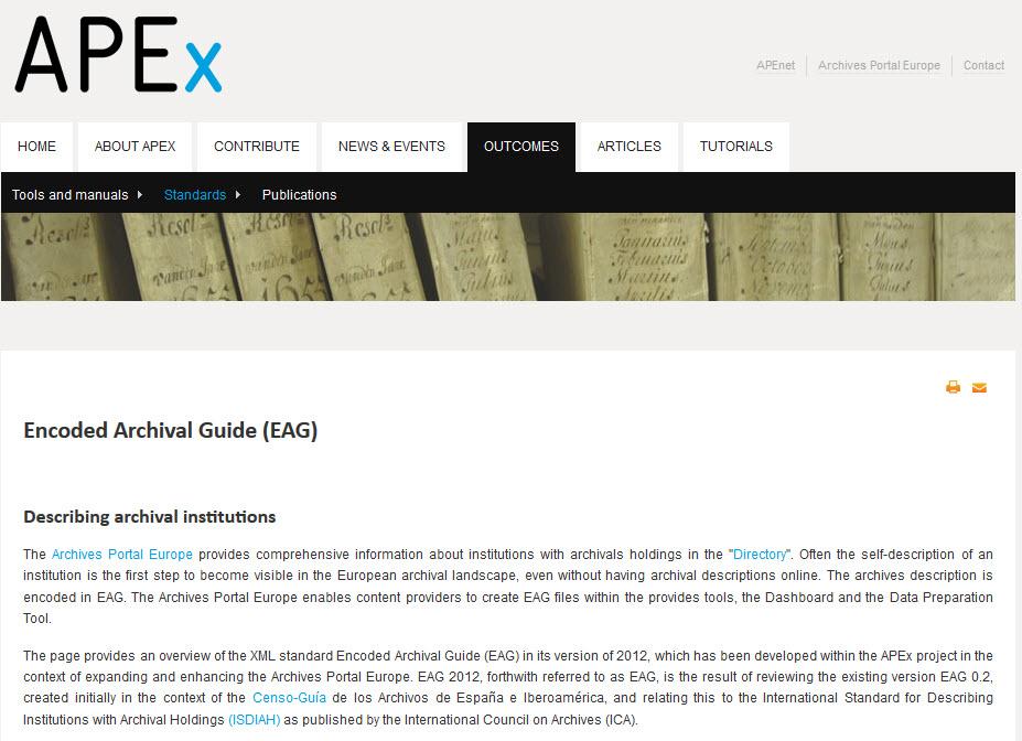 Fiche ISDIAH et format EAG 2012