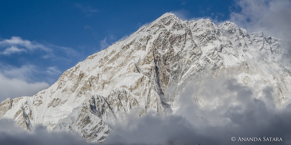 """""""Mysterious Emergence"""" clearing skies in the Himalayas, near Lobuche, Nepal, April 2012"""