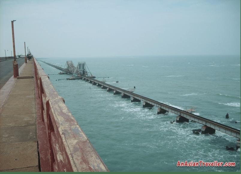Pamban Island bridge Rameshwaram TamilNadu AsianTraveller