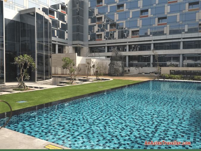top hotel swimming pools hyatt andaz delhi