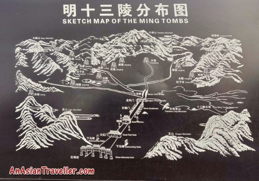 Ming Tombs Beijng Route Map