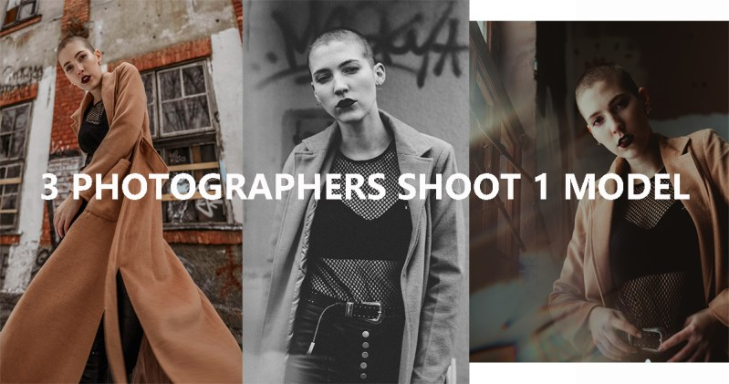 3 Photographers Shoot 1 Model (Slovene Edition)