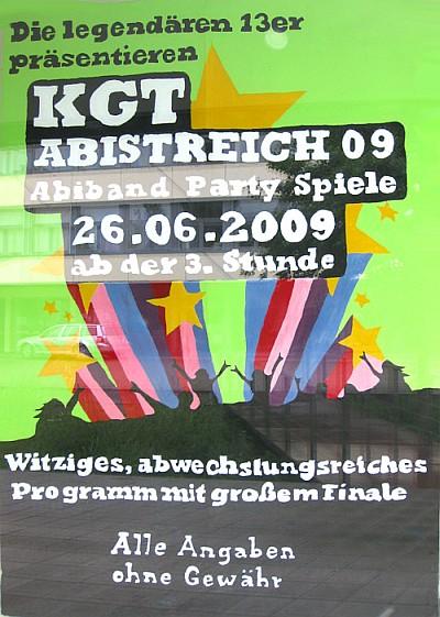 Der Abistreich 2009 im offiziellen Plakat