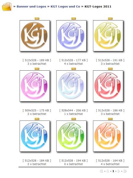 Version des KGT-Logos von 2011 - quicklebendig, sommerlich, farbenfroh...