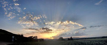 Ein herrlicher Sonnenuntergang am 28. Juni 2012 - wenige betrachteten ihn. (Foto: Martin Dühning)