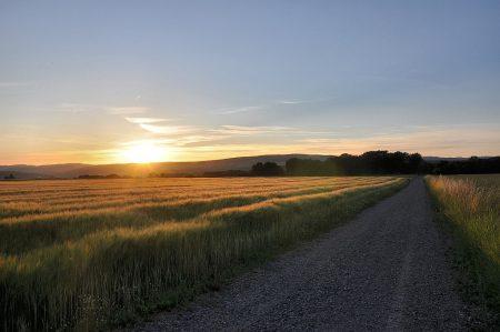 Auch der Sonnenuntergang am Johannistag 2012 konnte und kann sich sehen lassen. (Foto: Martin Dühning)