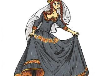 """Junge Prinzessin in der Fassung als """"Lady in Black"""""""