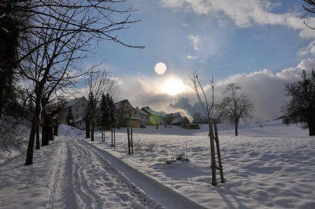 Bechtersbohl in der Winterabendsonne 2013 (Foto: Martin Dühning)