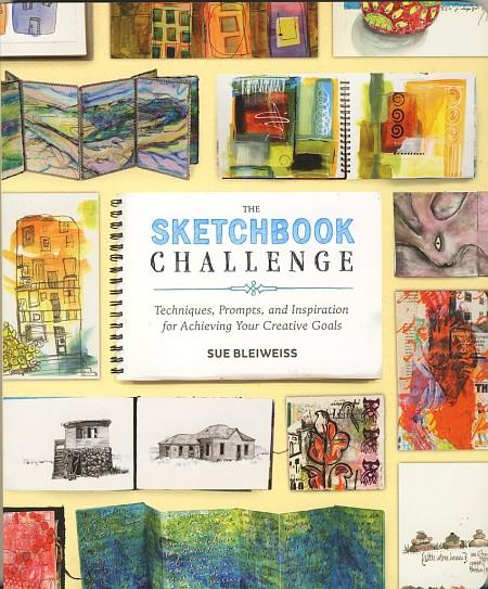 """Buchumschlag zum Bildband """"The Sketchbook Challenge"""" von Sue Bleiweiss"""