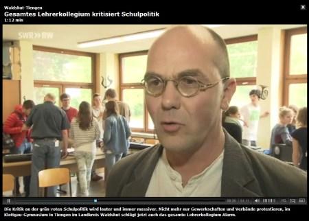 Am 21. Mai schaffte es der gemeinsame Lehrerprotest am KGT sogar ins SWR-Fernsehen.