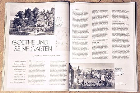 Goethe und seine Gärten schildert die Liebe des berühmten Dichters zur Gartennatur.