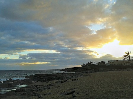 Sonnenuntergang im November am Meer - und weit und breit keine Hochrhein-Hochnebel! :-)