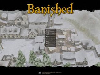 """Titelbildschirm des Computerspiels """"Banished"""""""