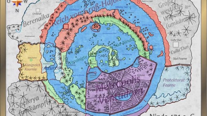 Die Staaten des Ninda-Habitats im Jahre 471 a. C.