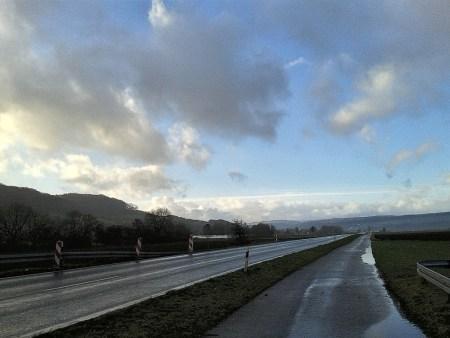 Blick Richtung Oberlauchringen im Januar 2015 (Foto: Martin Dühning)
