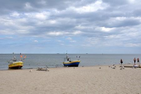 Boote beim Strand von Zoppot (Foto: Martin Dühning)