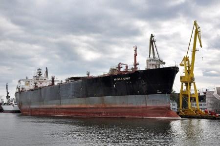 Ein Frachter in den Docks von Danzig (Foto: Martin Dühning)