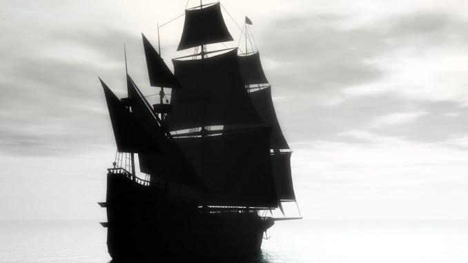 Galeone auf hoher See (Grafik: Martin Dühning)