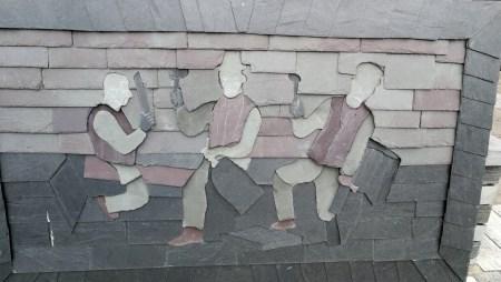 Schieferkunst in Blaenau Ffestiniog (Foto: Martin Dühning)