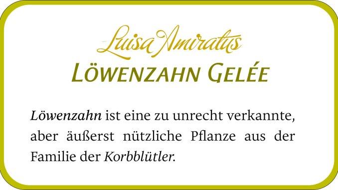 Löwenzahngelee-Etikett mit Buffet Script, Aeris und Eloquence (Grafik: Martin Dühning)