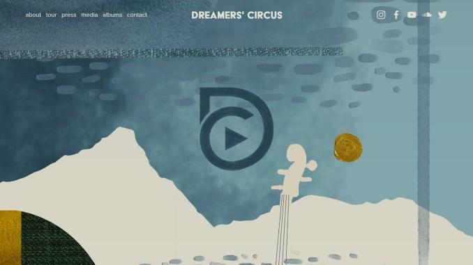 """Webseite der Band """"Dreamer's Circus"""" (Screenshot)"""