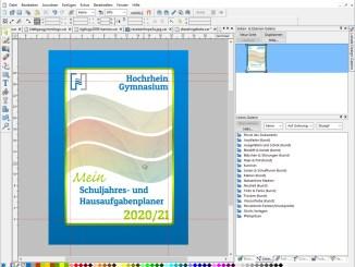 Die Arbeiten am Cover des kommenden Hausaufgabenplaners sind weiland die einzigen Auftragsarbeiten für Nitramica Arts im Sommer 2020 (Grafik: Martin Dühning)