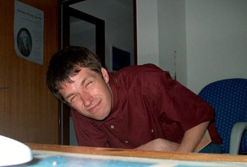 Nächtliche Unterrichtsvorbereitungsarbeiten in Denzlingen 2001/2002 (Foto: Martin Dühning)
