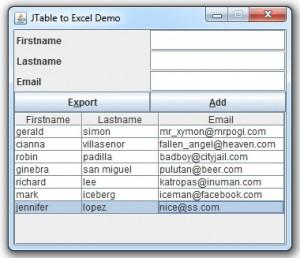 Exporting Data from MySQL to Excel using Java