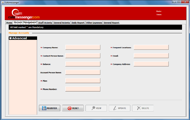 Anatech - Accounts System Interface1