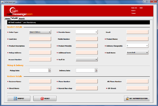 Anatech - WayBill System Interface1